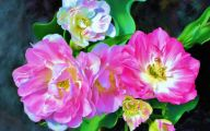 Pink Flowers Canvas  25 Cool Wallpaper