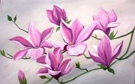 Pink Flowers Canvas  32 Free Wallpaper