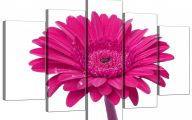 Pink Flowers Canvas  7 Wide Wallpaper