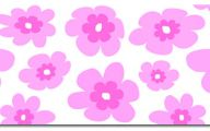 Pink Flowers Cartoon  6 Widescreen Wallpaper