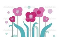 Pink Flowers Cartoon  7 Widescreen Wallpaper