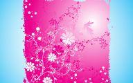 Pink Flowers Cartoon  9 Background Wallpaper