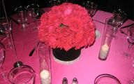 Pink Flowers Centerpieces  4 Wide Wallpaper