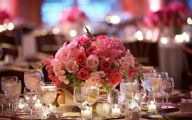 Pink Flowers Centerpieces  9 Wide Wallpaper