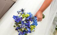 Blue Flowers For Wedding  9 Background Wallpaper