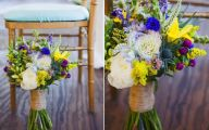 Blue Yellow Flowers Wedding  14 Free Hd Wallpaper