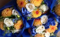 Blue Yellow Flowers Wedding  15 Free Wallpaper