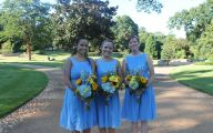 Blue Yellow Flowers Wedding  16 Free Wallpaper