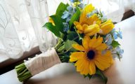 Blue Yellow Flowers Wedding  22 Free Hd Wallpaper