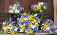 Blue Yellow Flowers Wedding  25 Free Wallpaper