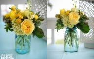 Blue Yellow Flowers Wedding  6 Cool Hd Wallpaper