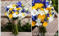 Blue Yellow Flowers Wedding  9 Wide Wallpaper