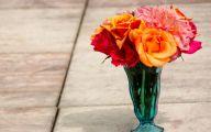 Green Flowers In Vase  6 Free Hd Wallpaper