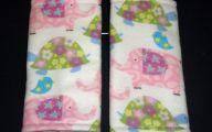 Pink Elephant Flowers  5 Wide Wallpaper