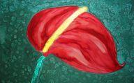 Red Anthurium 43 Background