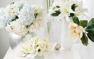 White Flowers For Christmas  6 Wide Wallpaper