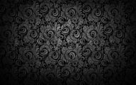 Black Flowers Design  11 Wide Wallpaper
