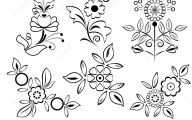 Black Flowers Design  12 Free Wallpaper