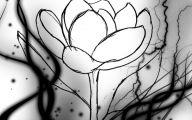Black Flowers Design  16 High Resolution Wallpaper