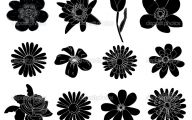 Black Flowers Design  17 Background