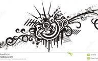 Black Flowers Design  19 High Resolution Wallpaper