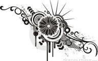 Black Flowers Design  20 Hd Wallpaper