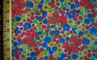 Flowers Red Yellow Blue  24 Wide Wallpaper