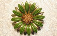 Green Gold Flowers  5 Hd Wallpaper