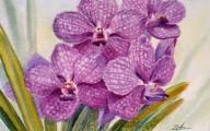 Purple Flowers Painting  14 Cool Hd Wallpaper