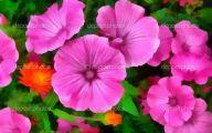 Purple Flowers Painting  15 Desktop Wallpaper