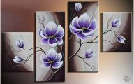 Purple Flowers Painting  17 Wide Wallpaper