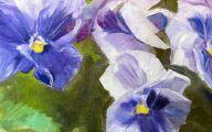 Purple Flowers Painting  20 Cool Wallpaper