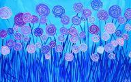 Purple Flowers Painting  26 Widescreen Wallpaper