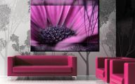 Purple Flowers Painting  4 Widescreen Wallpaper