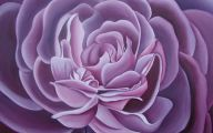 Purple Flowers Painting  6 Background Wallpaper