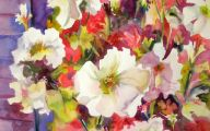 White Flowers For Hanging Baskets  34 Cool Wallpaper