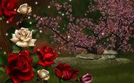 3D Red Roses Wallpaper  2 High Resolution Wallpaper