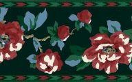 9 Red Flower Wallpaper Border  12 Wide Wallpaper