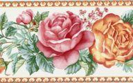 9 Red Flower Wallpaper Border  23 Widescreen Wallpaper