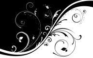 Flower Wallpaper Black And White  2 Background