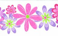 Flower Wallpaper Border  7 Wide Wallpaper