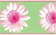 Green Flower Rings Wallpaper Border  13 Free Wallpaper