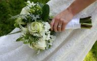 Green Rose Bouquets  1 Wide Wallpaper