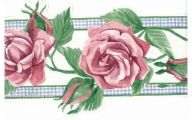 Pink Rose Wallpaper And Border  3 Wide Wallpaper