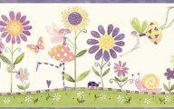 Purple Flower Wallpaper Border  11 Free Wallpaper