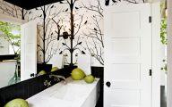 White Flower Bathroom Wallpaper  11 High Resolution Wallpaper