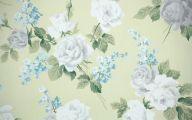 White Flower Bathroom Wallpaper  24 Wide Wallpaper