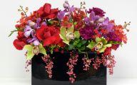 Black Flower Arrangements  51 Wide Wallpaper