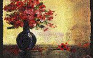 Black Flowers In Vase  31 Hd Wallpaper