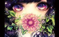 Blue Flower Anime  11 Widescreen Wallpaper